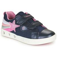 Zapatos Niña Zapatillas bajas Geox J SKYLIN GIRL Marino / Rosa