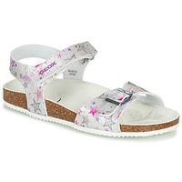 Zapatos Niña Sandalias Geox J ADRIEL GIRL Plata