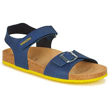 Zapatos Niño Sandalias Geox GHITA BOY Azul / Amarillo