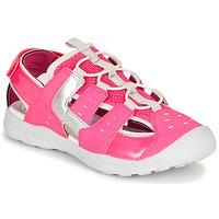 Zapatos Niña Sandalias de deporte Geox J VANIETT GIRL Rosa / Plata