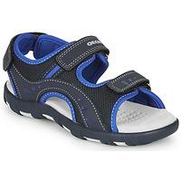 Zapatos Niño Sandalias de deporte Geox JR SANDAL PIANETA Marino