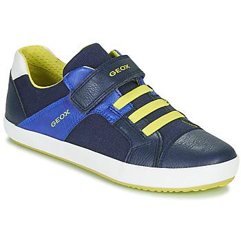 Zapatos Niño Zapatillas bajas Geox J GISLI BOY Marino / Amarillo