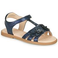 Zapatos Niña Sandalias Geox J SANDAL KARLY GIRL Marino