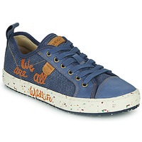 Zapatos Niño Zapatillas bajas Geox J ALONISSO BOY Azul / Marrón