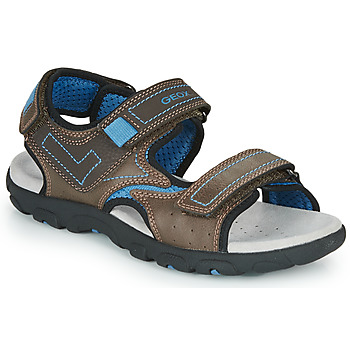 Zapatos Niño Sandalias de deporte Geox JR SANDAL STRADA Marrón / Azul