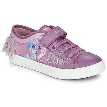 Zapatos Niña Zapatillas bajas Geox JR CIAK GIRL Violeta