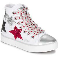 Zapatos Niña Zapatillas altas Geox JR CIAK GIRL Blanco / Rojo / Negro