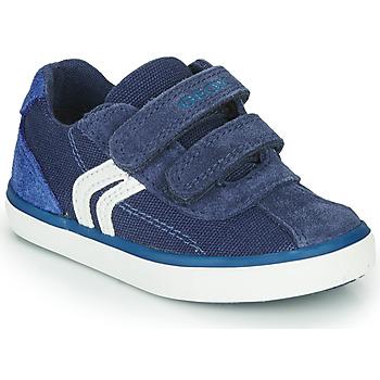 Zapatos Niño Zapatillas bajas Geox B KILWI BOY Azul / Blanco