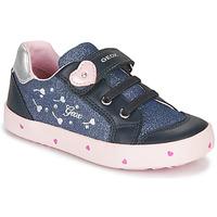 Zapatos Niña Zapatillas bajas Geox B KILWI GIRL Azul / Rosa