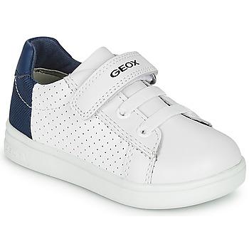 Zapatos Niño Zapatillas bajas Geox B DJROCK BOY Blanco / Azul