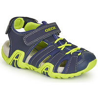 Zapatos Niño Sandalias de deporte Geox B SANDAL KRAZE Marino / Verde