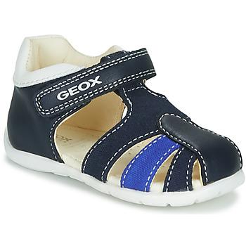Zapatos Niño Sandalias Geox B ELTHAN BOY Marino / Blanco