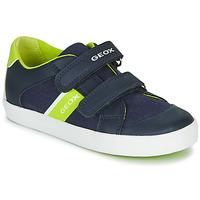 Zapatos Niño Zapatillas bajas Geox GISLI BOY Marino / Verde