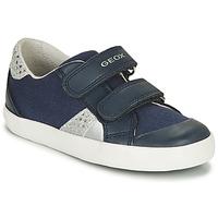 Zapatos Niño Zapatillas bajas Geox GISLI GIRL Marino / Plateado
