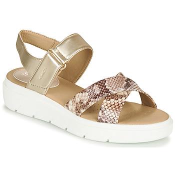 Zapatos Mujer Zapatillas bajas Geox D TAMAS Oro / Topotea