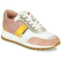 Zapatos Mujer Zapatillas bajas Geox D TABELYA Rosa / Blanco / Amarillo
