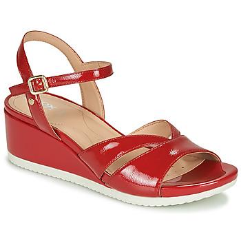Zapatos Mujer Zapatillas bajas Geox D ISCHIA Rojo