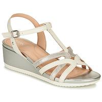 Zapatos Mujer Sandalias Geox D ISCHIA Blanco / Plata