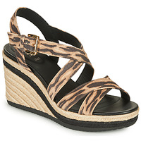 Zapatos Mujer Sandalias Geox D PONZA Marrón / Negro