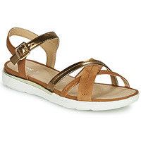 Zapatos Mujer Sandalias Geox D SANDAL HIVER Oro / Marrón
