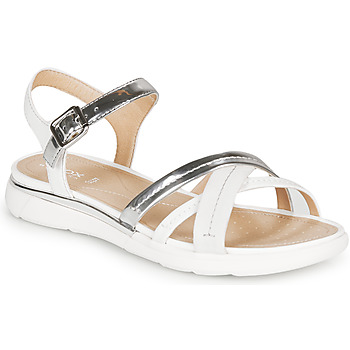 Zapatos Mujer Sandalias Geox D SANDAL HIVER Plata / Blanco