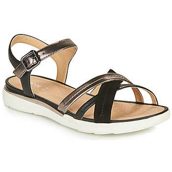Zapatos Mujer Sandalias Geox D SANDAL HIVER Negro / Oro