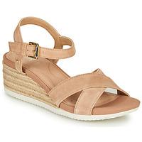 Zapatos Mujer Sandalias Geox D ISCHIA CORDA Beige