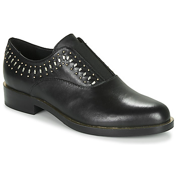 Zapatos Mujer Derbie Geox D BROGUE S Negro / Oro