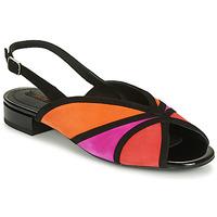 Zapatos Mujer Sandalias Geox D WISTREY SANDALO Negro / Rojo / Rosa
