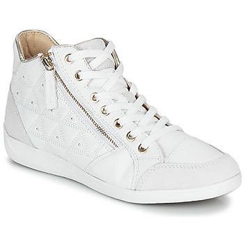 Zapatos Mujer Zapatillas altas Geox D MYRIA Blanco