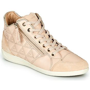 Zapatos Mujer Zapatillas altas Geox D MYRIA Beige