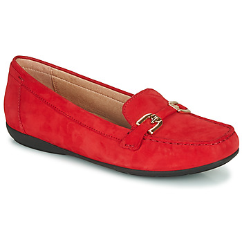Zapatos Mujer Mocasín Geox D ANNYTAH MOC Rojo / Oro
