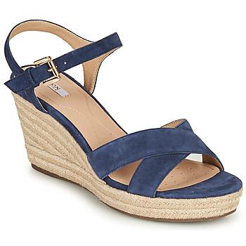 Zapatos Mujer Sandalias Geox D SOLEIL Azul