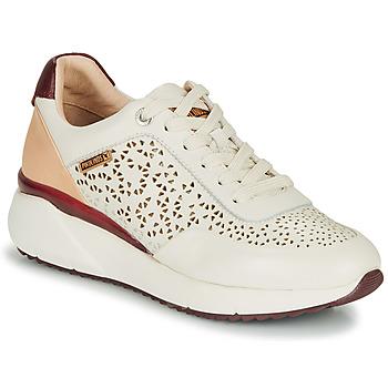 Zapatos Mujer Zapatillas bajas Pikolinos SELLA W6Z Blanco / Burdeo