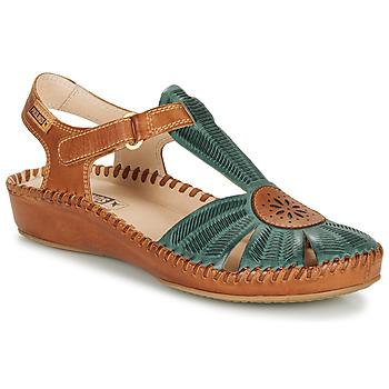 Zapatos Mujer Sandalias Pikolinos P. VALLARTA 655 Camel / Verde