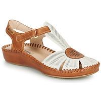 Zapatos Mujer Sandalias Pikolinos P. VALLARTA 655 Blanco / Camel