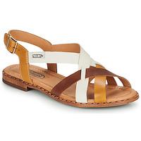 Zapatos Mujer Sandalias Pikolinos ALGAR W0X Cognac / Blanco / Amarillo