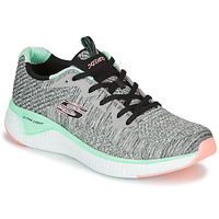 Zapatos Mujer Fitness / Training Skechers SOLAR FUSE BRISK ESCAPE Gris / Verde / Rosa