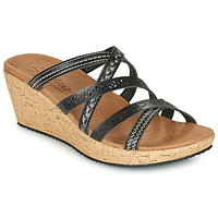 Zapatos Mujer Zuecos (Mules) Skechers BEVERLEE TIGER POSSE Negro