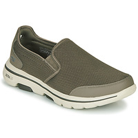 Zapatos Hombre Slip on Skechers GO WALK 5 Kaki
