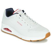 Zapatos Hombre Zapatillas bajas Skechers UNO STAND ON AIR Blanco