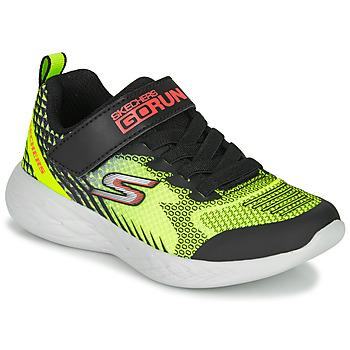 Zapatos Niño Multideporte Skechers GO RUN 600 BAXTUX Negro / Amarillo