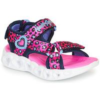 Zapatos Niña Sandalias de deporte Skechers HEART LIGHTS Rosa / Negro