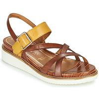 Zapatos Mujer Sandalias Tamaris EDA Marrón / Amarillo
