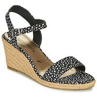 Zapatos Mujer Sandalias Tamaris LIVIA Negro / Blanco