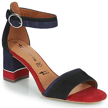 Zapatos Mujer Sandalias Tamaris DALINA Marino / Rojo