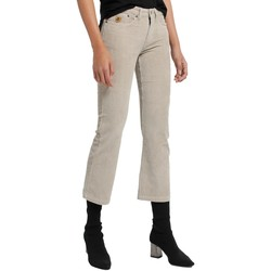textil Mujer Pantalones con 5 bolsillos Lois Pantalon Velours Beige  Pana-Coty 582 Beige