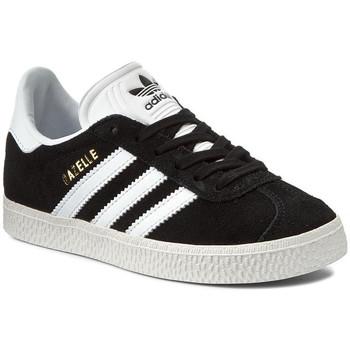 Zapatos Niños Zapatillas bajas adidas Originals GAZELLE J Noir