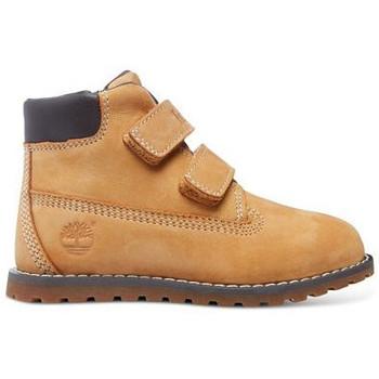 Zapatos Niños Botas de caña baja Timberland pokey pine hook-et-loop Marron
