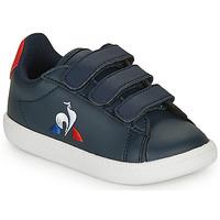 Zapatos Niños Zapatillas bajas Le Coq Sportif COURTSET INF Marino / Rojo